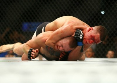 Diaz chokes McGregor